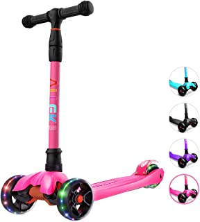 pink childs scooter