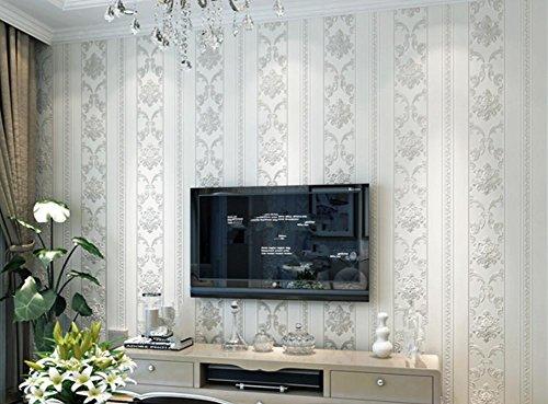 3D Stereo Gesneden Nonwovens Wallpapers Woonkamer Slaapkamer Achtergrond Muren Restaurant Verticaal Gestreept Behang