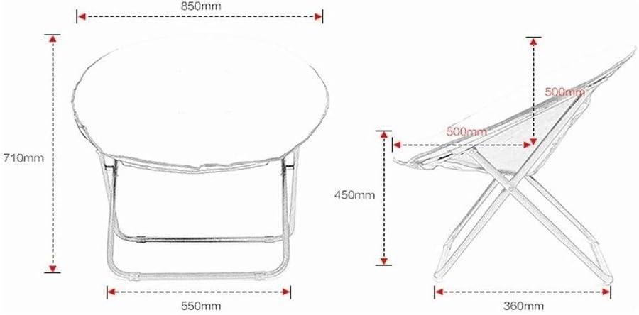 GJX Chaise pour adulte Lune Chaise pliante lavable pour balcon (couleur : jaune) Jaune