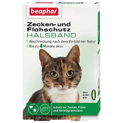 Zecken- & Flohschutz Halsband Katze | Schutz vor Zecken Flöhen | Wirkt 4 Monate | Katzenhalsband mi...