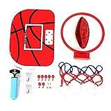 VGEBY1 Juguete de Tablero de Básquetbol, Juego de Plato de Baloncesto Ajustable Mini Juego de Aro de Suspensión con Baloncesto, Suspensión, Bomba para Niños Bebé(Gancho Adhesivo)