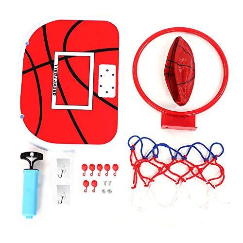 Qiter Mini-Basketball-Set, Indoor-verstellbare Federung Netball Hoop Mini-Basketballplatte für Kinderspiel(Klebehaken)