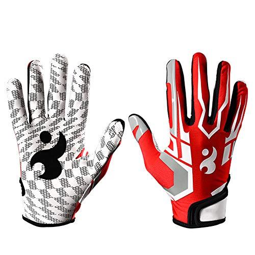 Baseball handschoenen outdoor anti-slip siliconen slijtage sport honkbal handschoenen dikke siliconen warm outdoor handschoenen S Rood