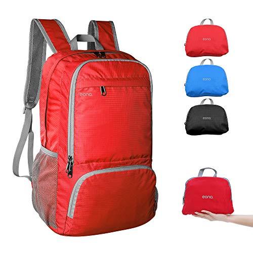 Amazon Brand - Eono - 30L Petit Sac à Dos, Sac à Dos Pliable Ultra-Léger Homme Femme Sports Plein air, Sac de Randonnée pour Camping randonnée Voyage Fitness…