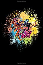 """Totally Rad!: Journal / Notebook / Diary Gift - 6""""x9"""" - 120 pages - White Lined Paper - Matte Cover"""