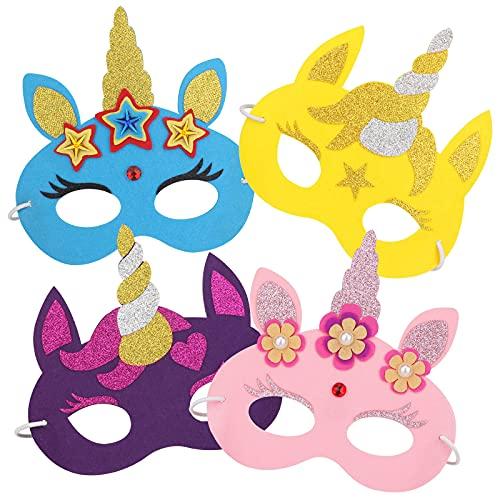 Hifot Máscaras de Unicornio Bricolaje Infantil, Antifaz Carnaval...