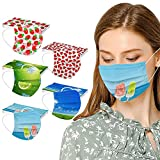 3-Ply Summer Printed Colorful Face_Mask, Fruit Printed Disposable...