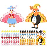Package Include: There are 12 sheets make-a-turkey sticker per pack, both you and your child can use this product to play the turkey sticker game. Material: These make-a-turkey stickers are made of eco-friendly paper covered with very thin and also e...