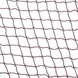 Rete da badminton Keenso, rete da badminton in nylon sintetico di alta qualità Rete da badminton rossa durevole con corda