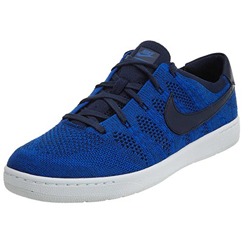 nike tennis classic ultra flyknit mens running trainers 830704 sneakers shoes (US 12, challenge navy racer blue white 401)