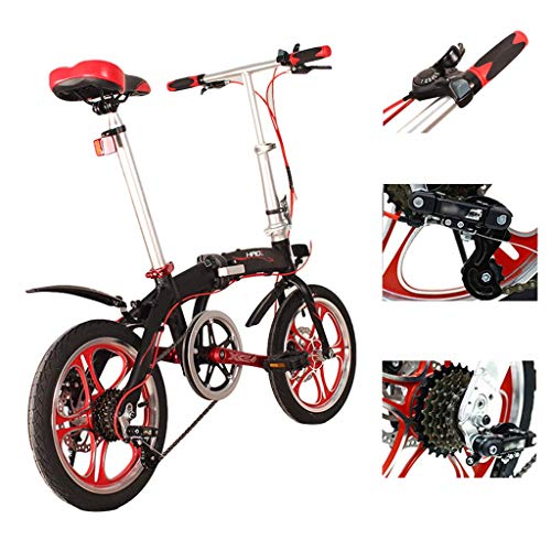 TYXTYX 16 Pulgadas Plegable De Aluminio Bicicleta De Paseo Mujer Bici Plegable...