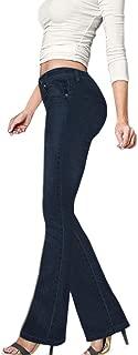 high waisted bootleg jeans