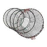 Soytich Faltbare Köderfischreuse 60x30 cm Aalreuse Krebsreuse Fischreuse (Reuse 60x30)
