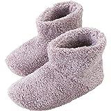 アイリスプラザ ルームブーツ Mサイズ 約 22.5 ~ 24cm ルームシューズ スリッパ もこもこ マイクロミンクファー ふわふわな肌触り 暖房対策 秋冬 洗える 無地 ピンク