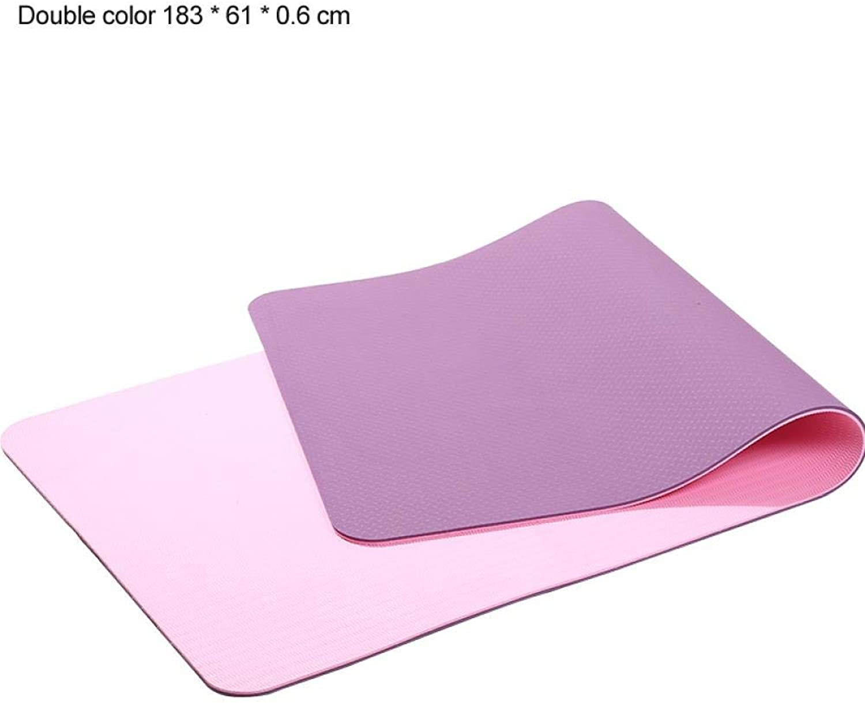 TSANG Yoga Matte 183  61 cm 6Mm Dicke Doppelte Farbe rutschfeste TPE Yoga Matte übung Sportmatte Für Fitness