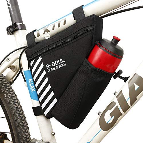 TheStriven Nylon dreieckigen Fahrradtasche Fahrrad Dreiecktasche Fahrradtasche Rahmen Fahrrad-Rahmen Tasche Fahrrad Rahmentasche Triangeltasche Mit Kesseltasche ideal für Fahrradschloss Werkzeug