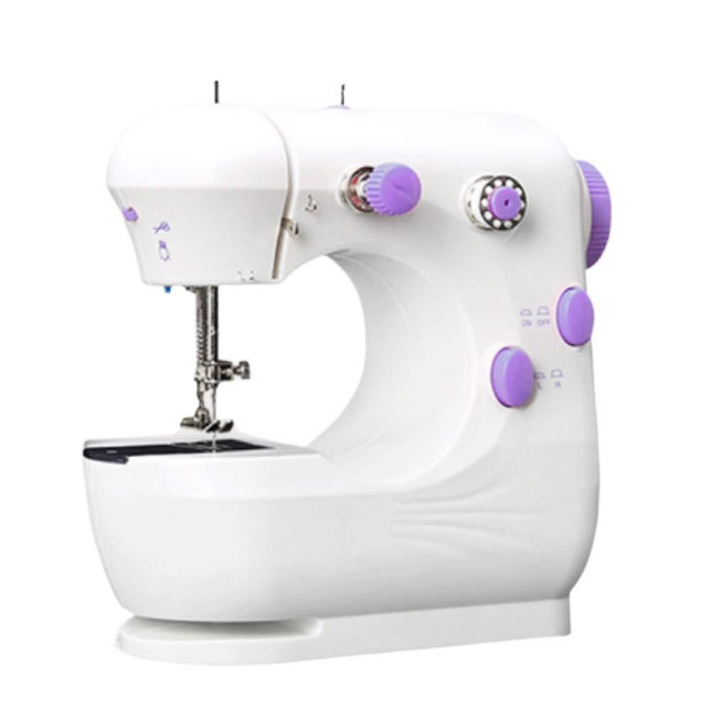 DYW-Sewing machine Máquina de Coser portátil Máquinas de Coser portátiles de Mano Puntada Costura Costura Ropa inalámbrica Telas Electrec Máquina de Coser Conjunto de Puntadas (Color : A): Amazon.es: Hogar
