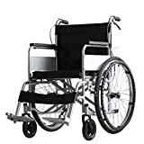 DONG Silla de Ruedas discapacitada para Personas de la Tercera Edad Plegable de la aleación de Aluminio, Carrito portátil Potty