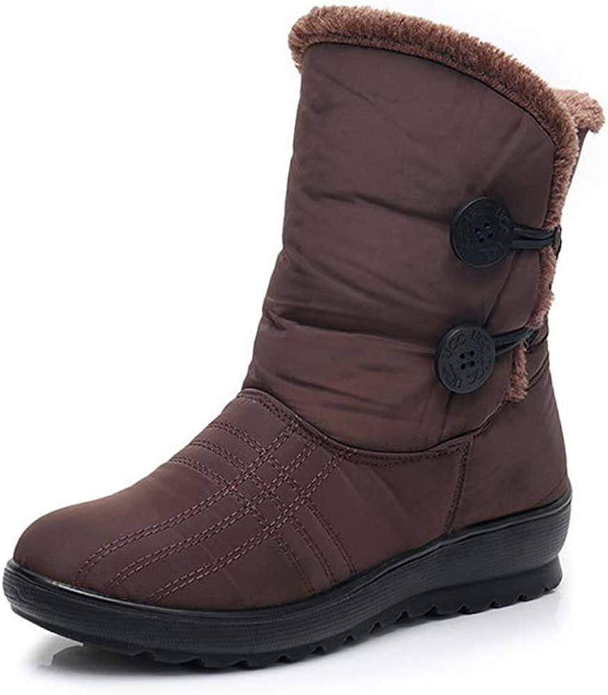 Women's Snow Boots Warm Online limited product Winter Max 58% OFF Faux Waterpro Anti-Slip Fur Lined