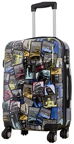 Polycarbonat Reisekoffer Trolley Hartschale - Design Weltreise Paris New York Athen Rio (Handgepäck)