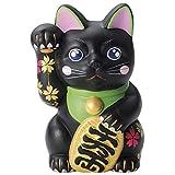 巧5号さくら猫 貯金箱 黒 G-1840