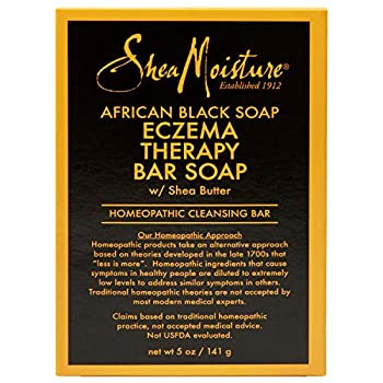 SheaMoisture Bar Soap for Eczema African Soap Bar Soap with Shea Butter Black Aloe Vera 5 Ounce
