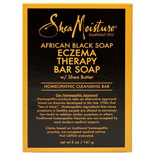 SheaMoisture Bar Soap for Eczema African Soap Bar Soap with Shea Butter, Black, Aloe Vera, 5 Ounce