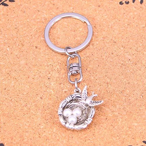 Mode Sieraden Accessoires Zilver Hanger Zwaluw Vogels Nest Eieren Sleutelhanger Sleutelhanger Ring Voor Vrouwen Mannen Geschenken Sleutelhanger