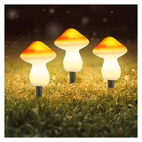 Luces solares al aire libre Lámparas de estaca de la luz del jardín de la seta solar LED LED al aire libre Luz decorativa de la lámpara de tapón de tierra de tierra para el patio de jardín Decoración
