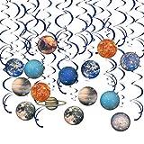 Hangnuo 30 Stück Solarsystem Hängedekorationen – Planeten/Weltraum Geburtstag Party Supplies