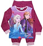 Frozen - Die Eiskönigin Mädchen Schlafanzug ELSA Pyjama (Rosa/Lila, 110-116)