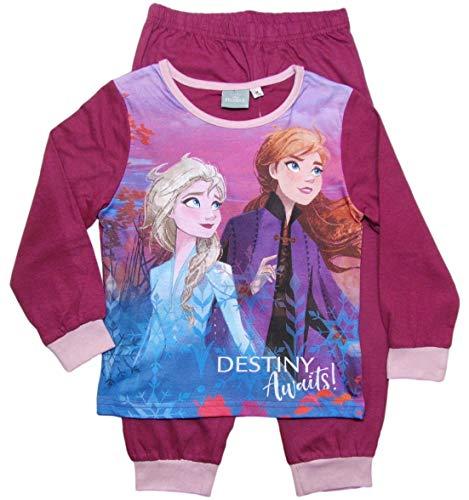Frozen - Die Eiskönigin Mädchen Schlafanzug ELSA Pyjama (Rosa/Lila, 116-122)
