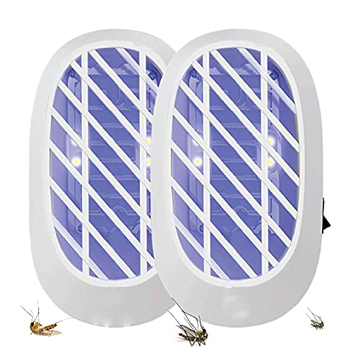 ZEACCT es una Trampa para Insectos de Interior para Mosquitos y Moscas de la Fruta, Elimina Las plagas con luz Azul física, Respetuoso con el Medio Ambiente, no tóxico, pequeño y portátil-2 Bolsa