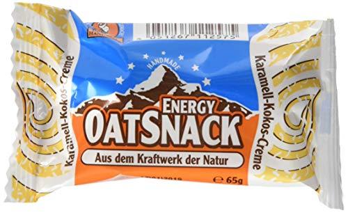 Energy OatSnack, natürliche Riegel - von Hand gemacht, Karamell-Kokos-Creme, 30 x 65 g, 1er Pack (1 x 1950 g)