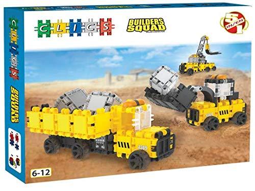 Clics Konstruktionsspielzeug für Kinder von 6 bis 12 Jahren, kreatives Lernspielzeug, Bausteine für Mädchen und Jungen, Montessori STEM-Spielzeug, Hero Squad Bauträger Box 5 in 1