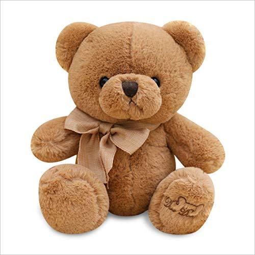 Pluche Mooie Teddybeer Poppen Knuffel, Knuffels Teddybeer Zacht Kussen, Kerstcadeau Voor Kinderen Baby 40Cm (Chocolade)