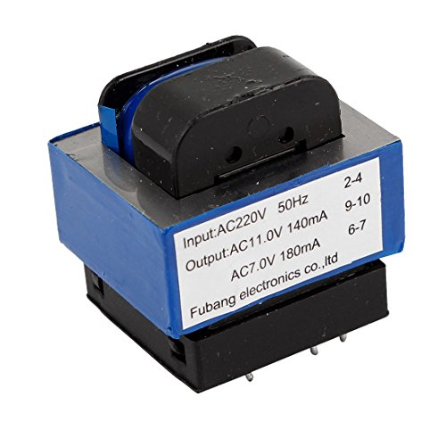 sourcing map AC 220V vers 314/7V 140mA/180mA 7 Broches Four Micro-Ondes Transformateur De Puissance