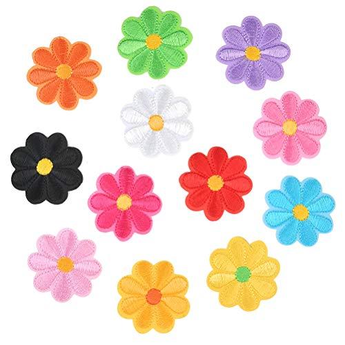 OFNMY 36 pezzi di toppe ricamate con fiori zaini personalizzati per vestiti, vestiti, cappelli, fai da te cucito fai da te