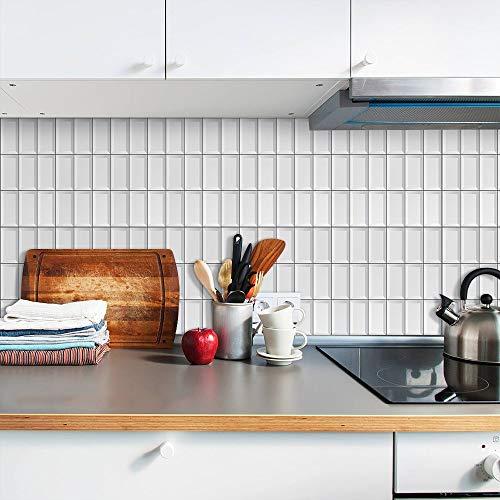 Yubingqin Etiqueta engomada de la baldosa Cocina Backsplash Removible Autoadhesivo Baño Decorativo Floor DIY Pieza A Prueba de Aceite Peel & Stick (Color : TS115, Size : 15x15cmx10pcs)