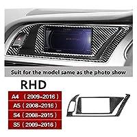 自動車のスタイリングコンソールナビゲーションACフレームの装飾カバーCDパネルトリムカーボンファイバーステッカーA4 B8 A5 S5 S4 RHD LHD 車に適しています (Color Name : RHD navigation A)