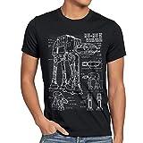 style3 AT-AT Cianotipo Camiseta para Hombre T-Shirt Fotocalc