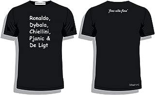 'Fino alla fine' Juventus Stars t-Shirt (Medium) Ronaldo, Dybala, Chiellini, Pjanic, De Ligt Black