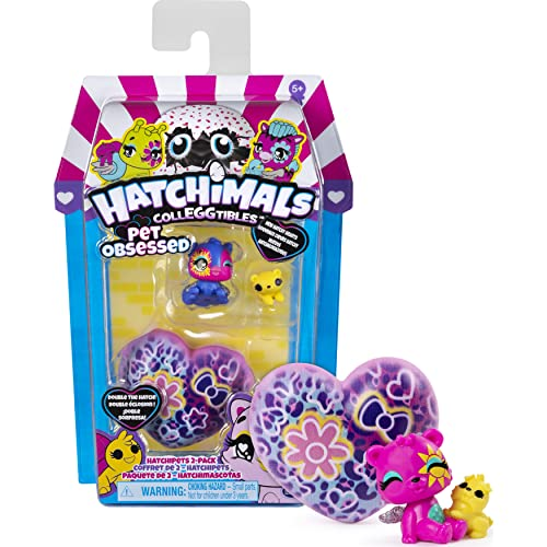 Hatchimals CollEGGtibles, Pet Obsessed HatchiPets 2-Pack with 2...