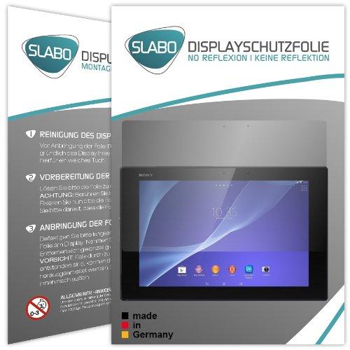 Slabo 2 x Pellicola Protettiva per Display Sony Xperia Tablet Z2 Protezione No Reflexion|Anti-Riflesso Opaca - Senza riflesso Made in Germany