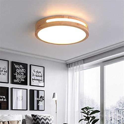 luz de techo led bluetooth Protección ocular con marco de madera regulable - luz de tres tonos_60 * 60 * 6CM-48W [Clase de eficiencia energética A].