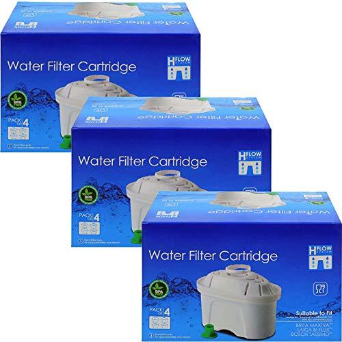 Spares2go - Cartucho de filtro de agua compatible con jarra Brita Aluna Elemaris Fun Marella Maxtra Style XL (12 unidades)