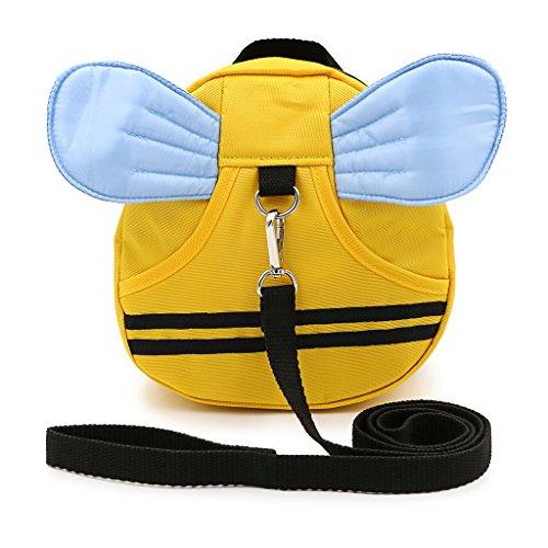 Sumnacon 迷子防止ひも リード付き リュックバッグ ぬいぐるみ 可愛い動物たち (黄色い)