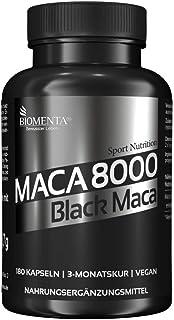 BIOMENTA Maca 8000 – Maca hochdosiert – Schwarzes Maca aus Peru – 180 Black..