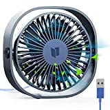 RATLE USB Table Fan, 4.84In Mini Desk fan Use with 3.94ft Cable, Portable & Personal for Home & Office Quiet and Powerful, Cools You Down in Hot Summer,Dark Blue