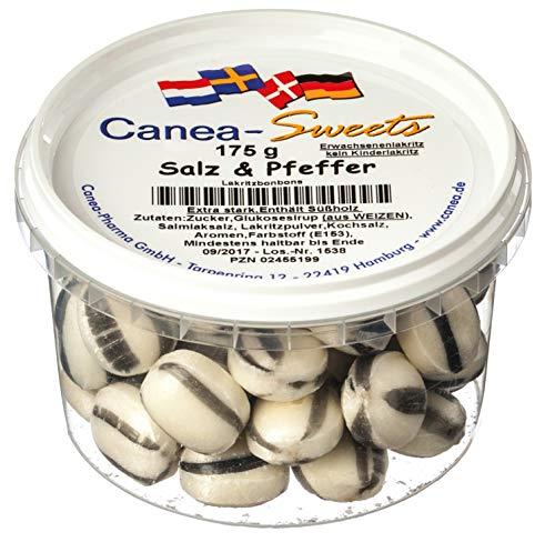 Canea-Sweets SALZ & PFEFFER Lakritz Dose, 1er Pack (1 x 175 g)